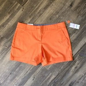 Crown And Ivy 6 Petite Womens Orange Shorts